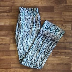 Roberto Cavalli Dino Feather Animal Print Pants